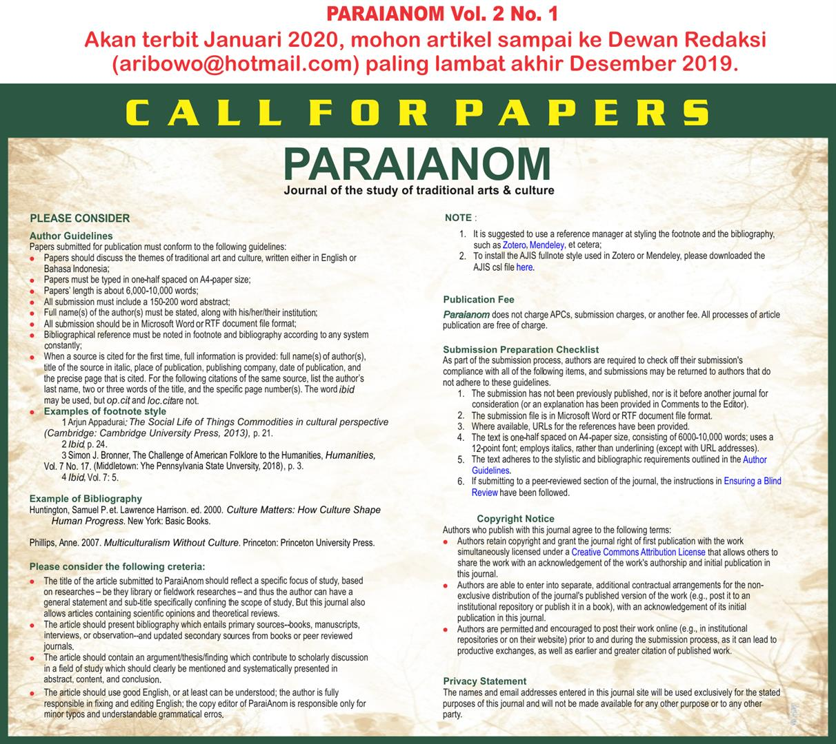 call_for_papers_paraianom_VOL._2_No_._1_
